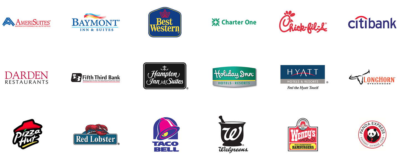 18 commercial company logos